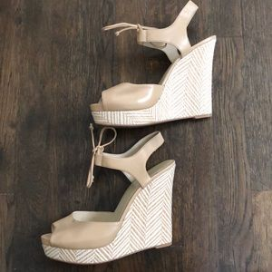 Nine West Strappy Wedge Heel